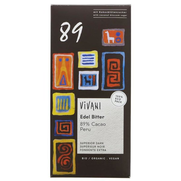 Buy 1 Get 1 Free !! Vivani Organic Chocolate Superior Oscuro 89% del chocolate 80g