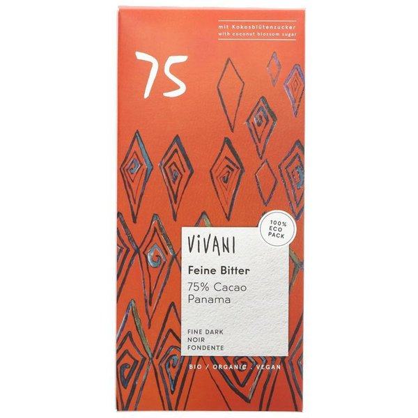 BUY 1 GET 1 FREE !! Vivani Organic Chocolate Oscuro 75% del chocolate 80g
